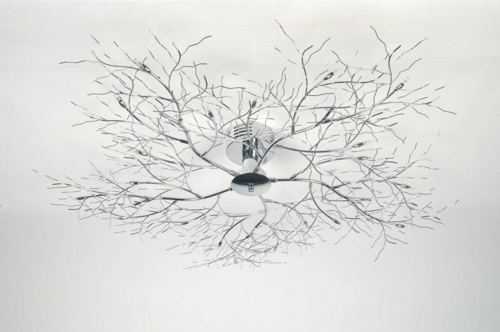 Woonkamer Plafondlamp : Plafondlamp 70985: Modern, Metaal, Rond