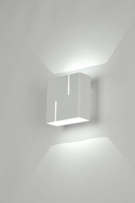 wandlamp 71051: modern, design, metaal, wit