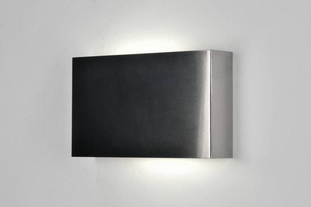Nieuwe Badkamer Purmerend ~ Wandlamp 71066 Modern, Design, Staalgrijs, Staal Rvs