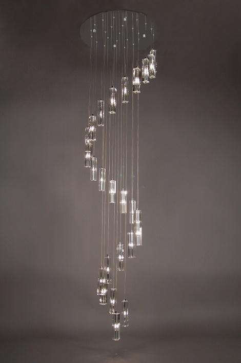 Hanglamp 71203: Modern, Klassiek, Kristal, Blei Kristal