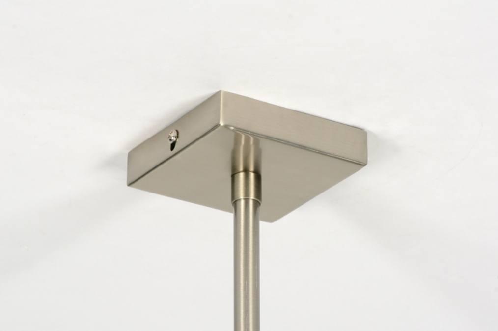 Hanglamp 71216: Modern, Zwart, Stof, Rechthoekig
