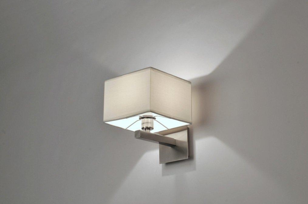 wandleuchte 71219 modern stahl rostbestaendig stoff weiss. Black Bedroom Furniture Sets. Home Design Ideas