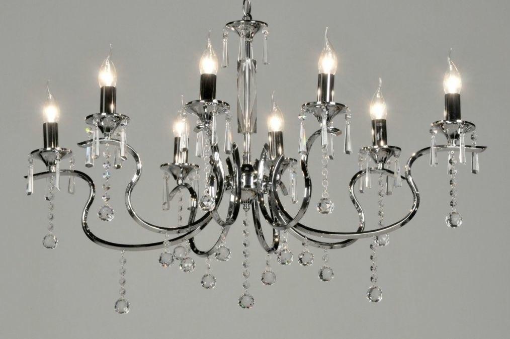 hanglamp 71271: klassiek, eigentijds klassiek, chroom, kristal