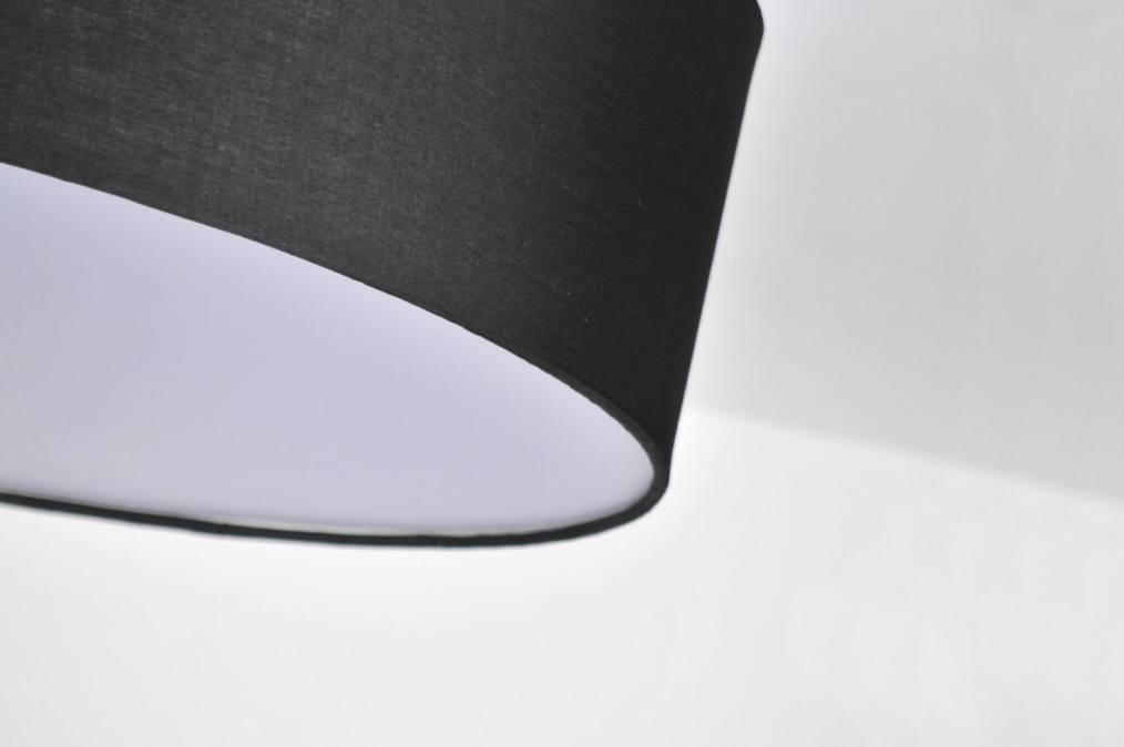 deckenleuchte 71272 modern stoff schwarz rund. Black Bedroom Furniture Sets. Home Design Ideas
