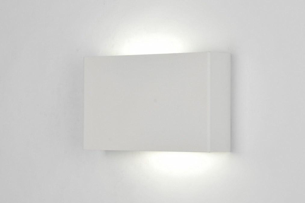 Design Wandlamp Keuken : wandlamp 71300: modern, design, metaal, wit