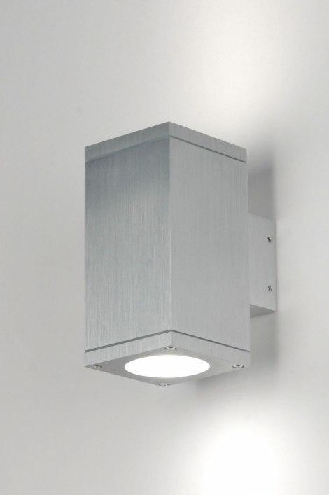 Wandlamp 71337: modern, design, aluminium, rechthoekig