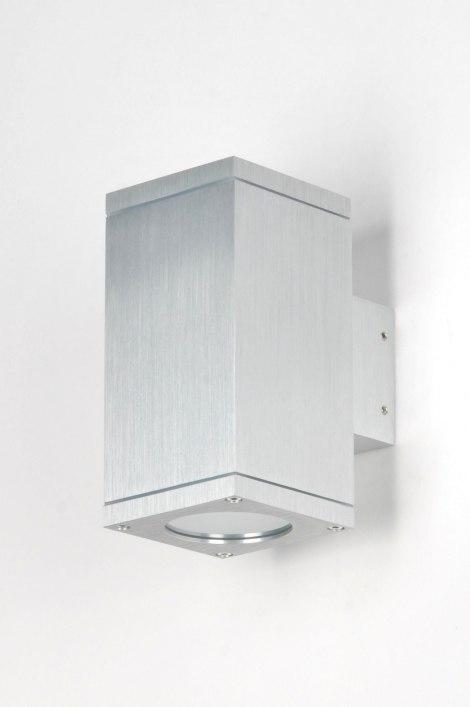 applique murale 71337 moderne aluminium verre. Black Bedroom Furniture Sets. Home Design Ideas