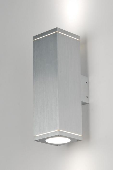 Wandlamp 71338: modern, design, aluminium, rechthoekig