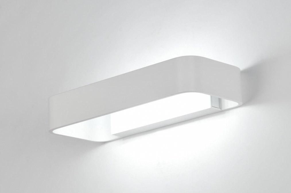 wandlamp 71340: modern, design, aluminium, wit