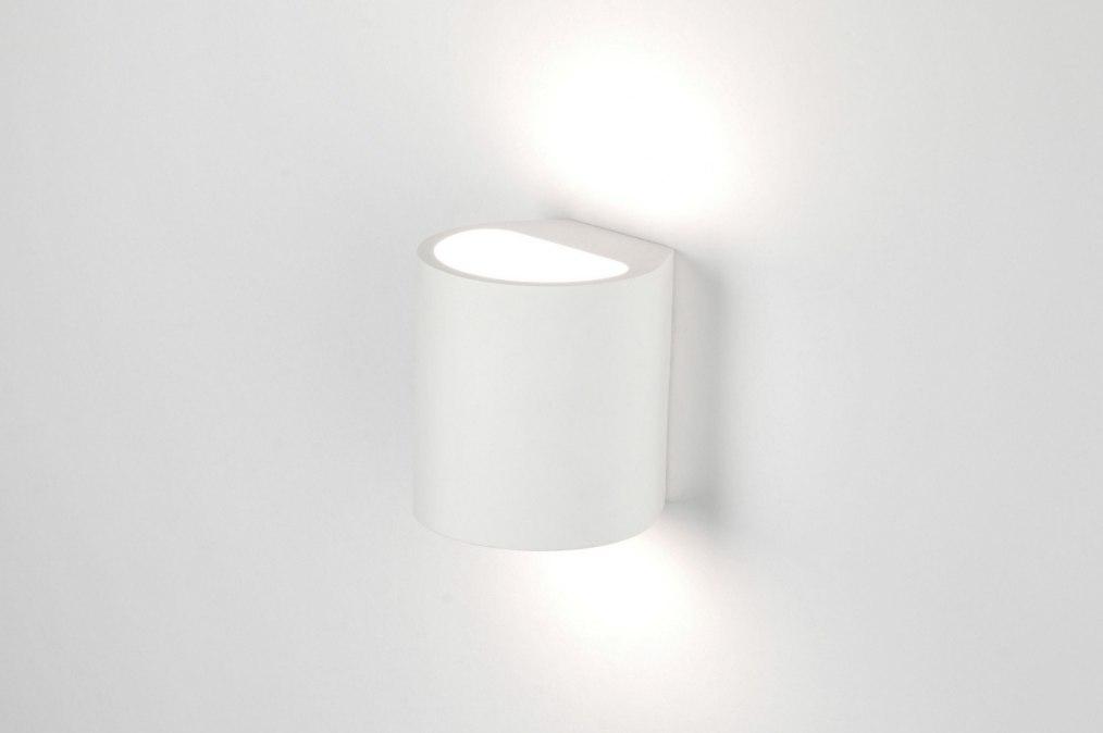 Applique murale 71351 moderne ceramique blanc mat for Ceramique murale blanche