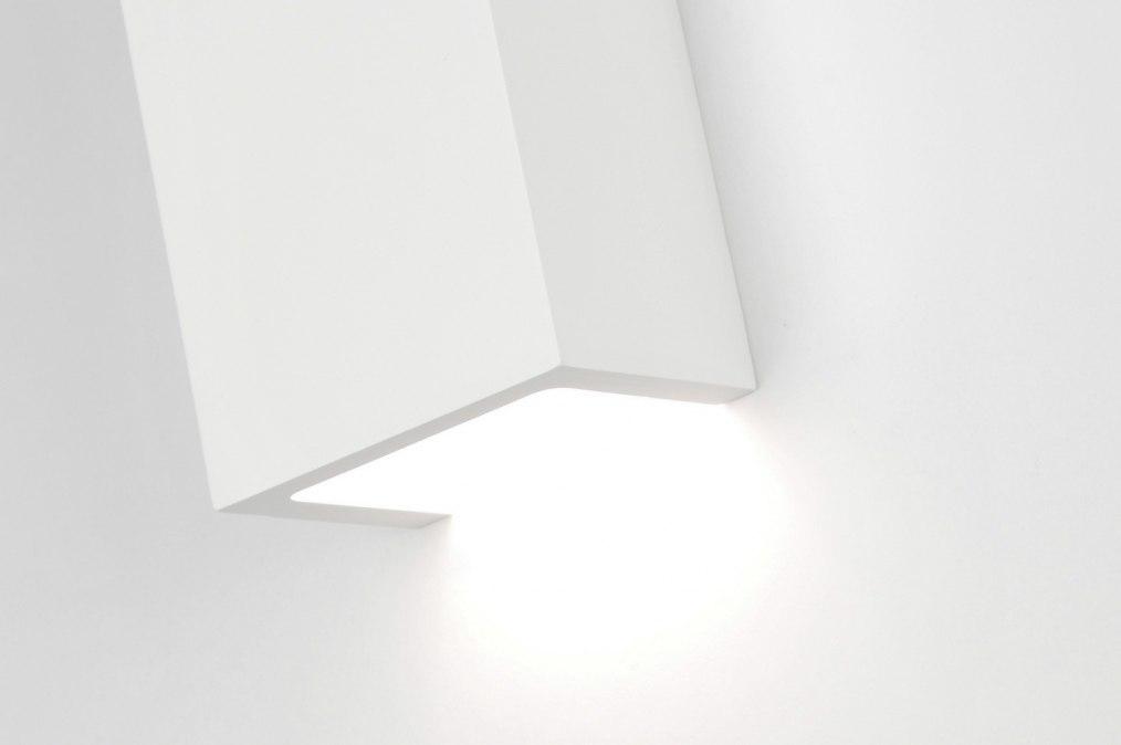 Applique murale 71352 moderne ceramique blanc mat for Ceramique murale blanche