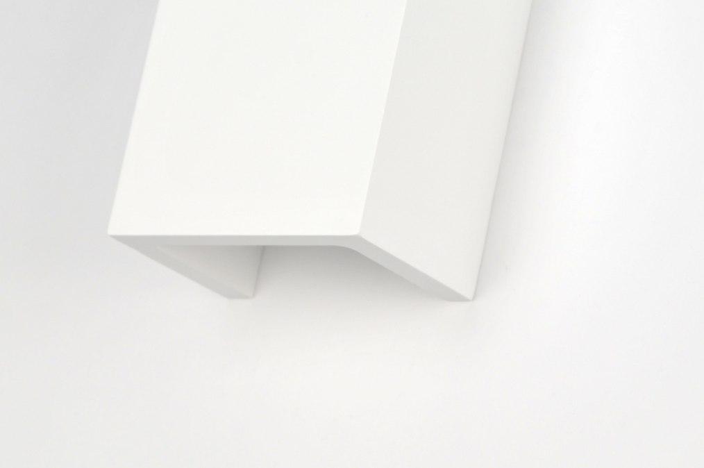 Applique murale 71352 moderne ceramique blanc mat for Ceramique murale