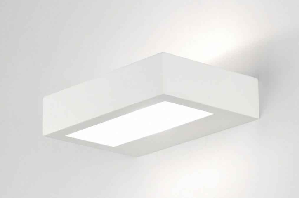 Hoogte Wandlamp Slaapkamer : wandlamp 71361: modern, glas, wit ...