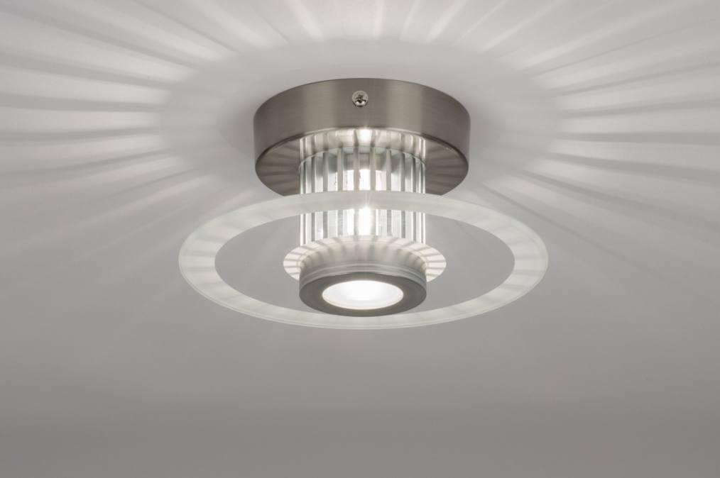 Plafondlamp 71421: Modern, Design, Aluminium, Aluminium