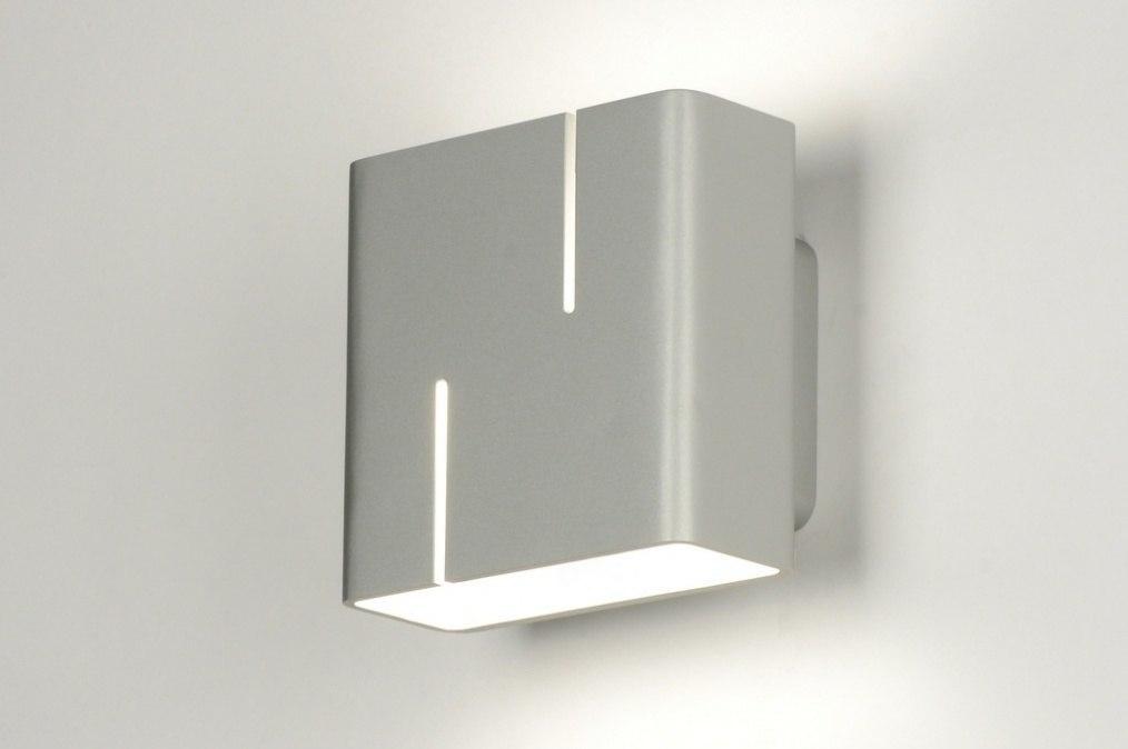 wandlamp 71530: modern, design, aluminium, vierkant