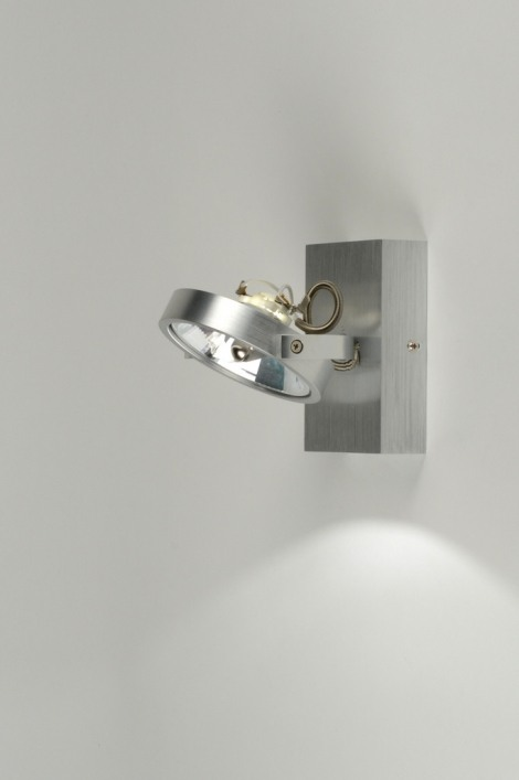 plafonnier 71550 moderne design aluminium rond. Black Bedroom Furniture Sets. Home Design Ideas