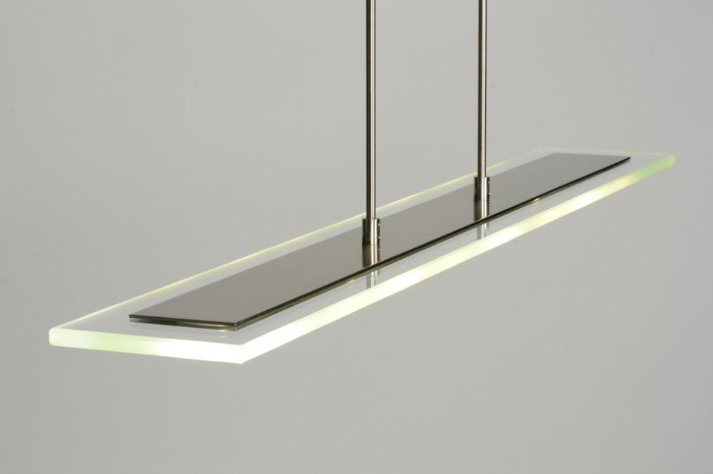 Keukenlamp Landelijk : Keukenlamp Onderbouw : Hanglamp 71556 Modern Glas Helder Staal Rvs