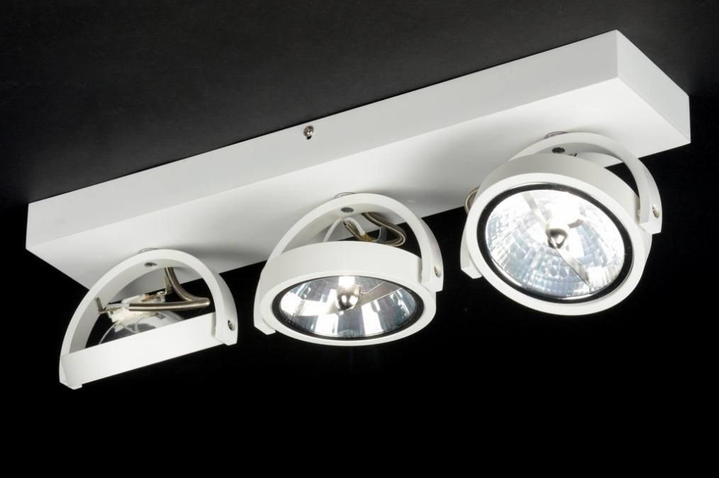 plafondlamp 71562: modern, design, aluminium, wit, mat, rond ...