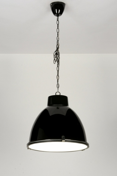 Suspension 71710 moderne look industriel aluminium noir for Suspension moderne noir