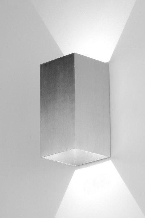 Wandlamp 71757: modern, design, aluminium, rechthoekig