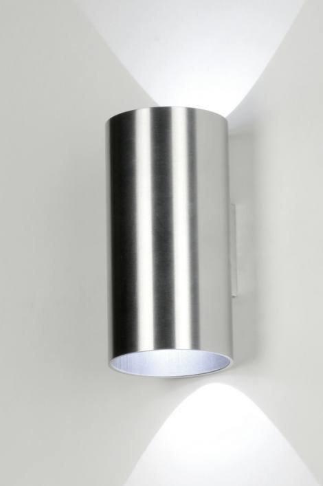 Wandlamp 71758: modern, design, aluminium, rond