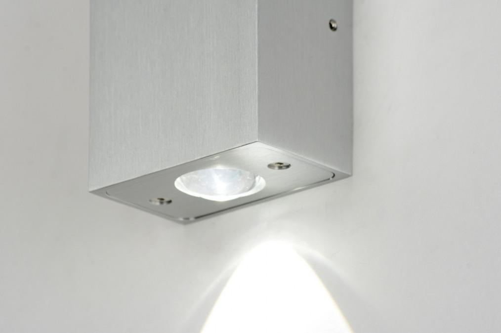 Wandlamp 71759: Modern, Design, Aluminium, Rechthoekig