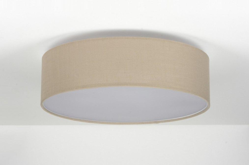 plafondlamp 71763 modern bruin taupe stof. Black Bedroom Furniture Sets. Home Design Ideas