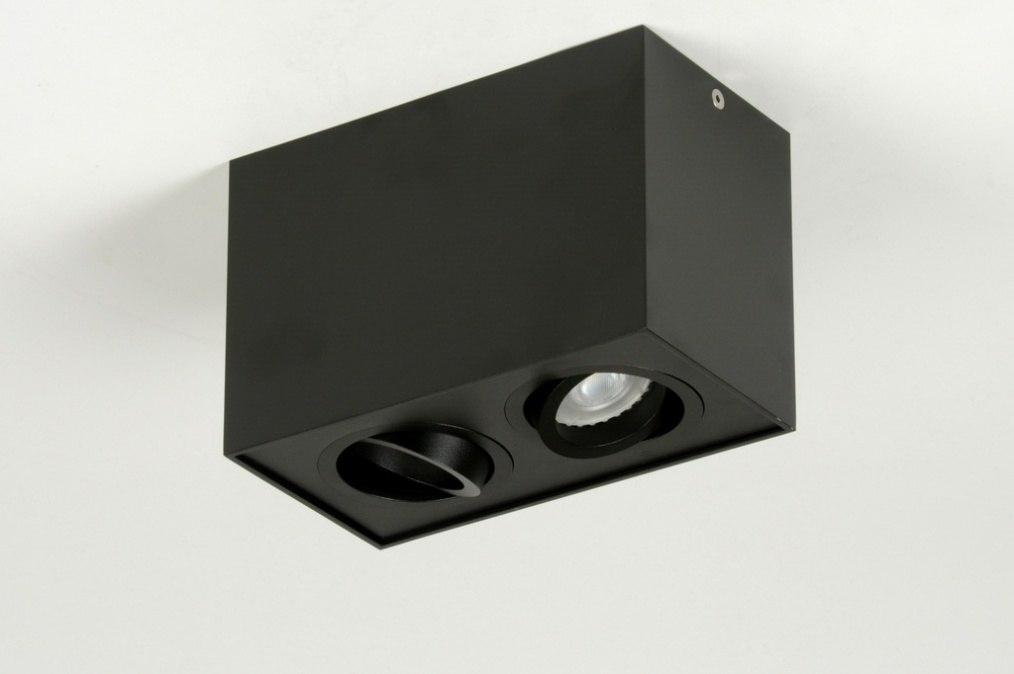 deckenleuchte 71787 modern design metall schwarz. Black Bedroom Furniture Sets. Home Design Ideas