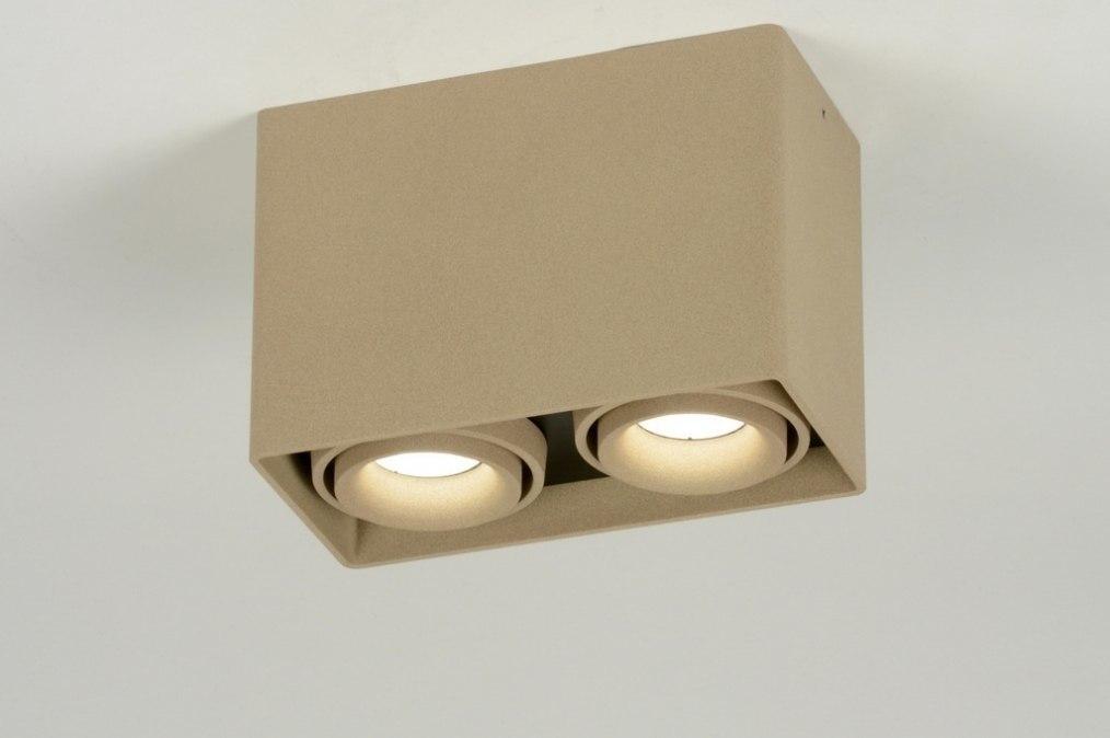 Plafondlamp 71796 modern design bruin taupe - Bruin taupe ...