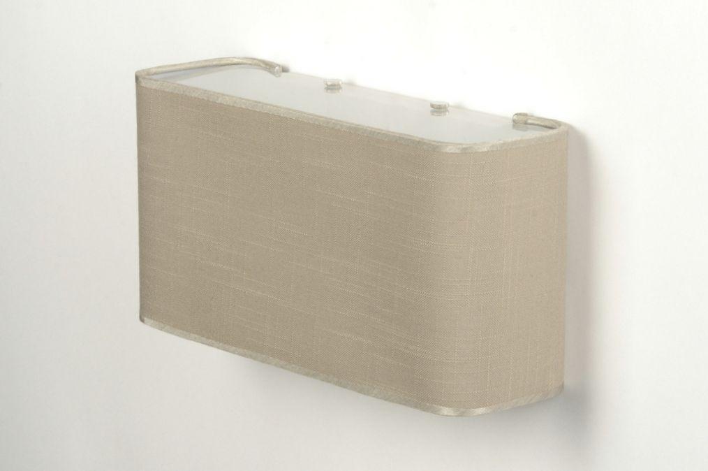 Wandlamp 71804 modern glas wit opaalglas metaal - Grijze ruimte en taupe ...