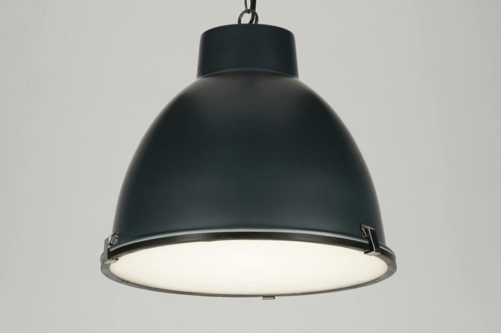 hanglamp 71833 industrie look antraciet rond. Black Bedroom Furniture Sets. Home Design Ideas