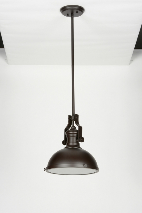 hanglamp 71952: modern, retro, industrie, look, glas, mat glas, metaal ...