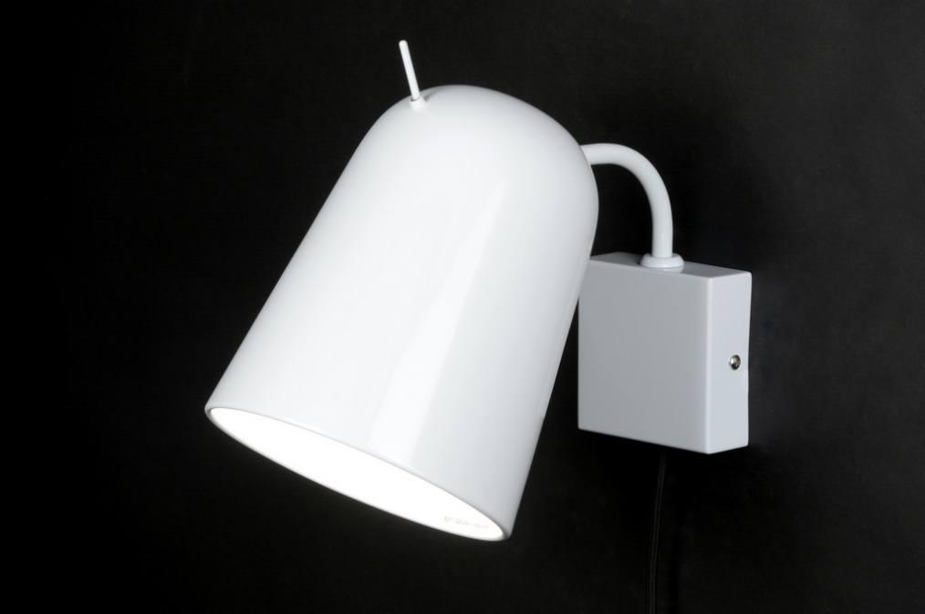 applique murale 71964 moderne design acier blanc. Black Bedroom Furniture Sets. Home Design Ideas