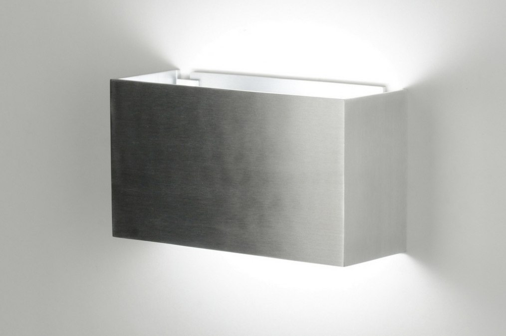 applique murale 71970 moderne design aluminium gris d acier. Black Bedroom Furniture Sets. Home Design Ideas
