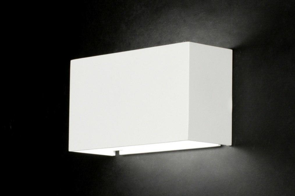 wandlamp 71971: modern, design, aluminium, wit