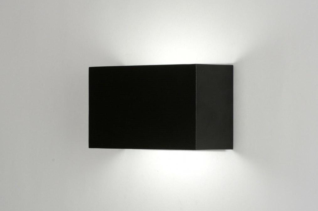 wandlamp 71972: modern, design, aluminium, zwart