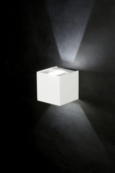 wandleuchte 71975 modern design aluminium weiss. Black Bedroom Furniture Sets. Home Design Ideas