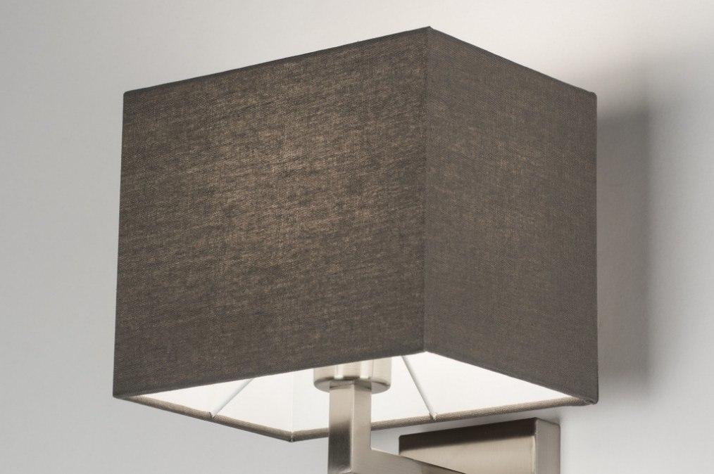 wandleuchte 72046 modern metall stahl rostbestaendig stoff. Black Bedroom Furniture Sets. Home Design Ideas