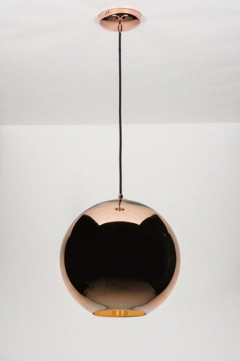 pendelleuchte 72093 modern retro glas rund. Black Bedroom Furniture Sets. Home Design Ideas