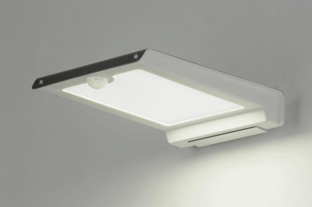 Wandlamp 72120: modern, aluminium, kunststof, wit