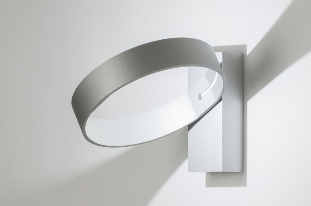 Wandlamp 72140: modern, design, aluminium, grijs