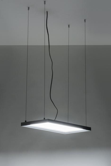Platte Inbouwspots Keuken : Hanglamp 72156: Modern, Wit, Aluminium, Kunststof