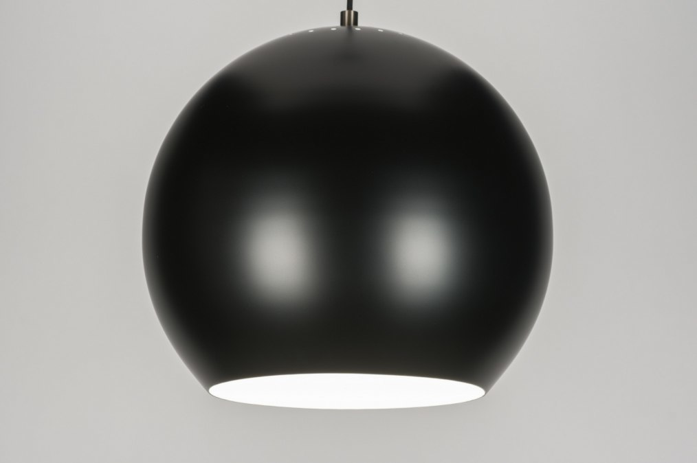 pendelleuchte 72160 modern retro metall schwarz. Black Bedroom Furniture Sets. Home Design Ideas