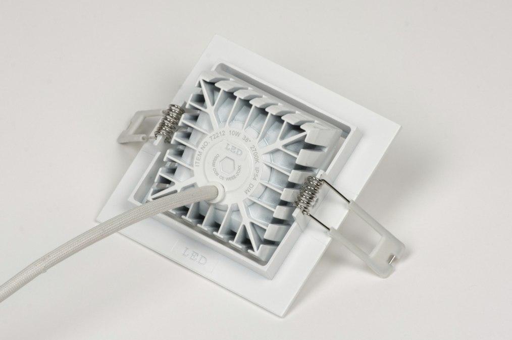 Inbouwspot 72212 design aluminium wit mat - Badkamer kantelen ...