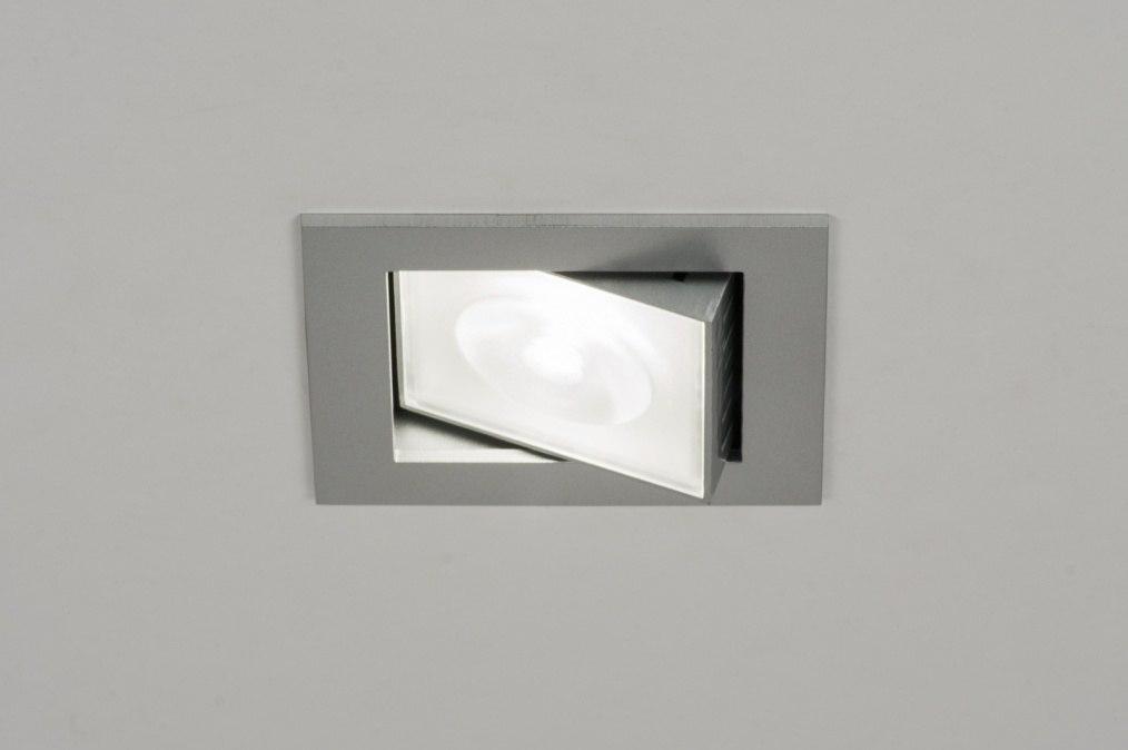 Inbouwspot 72213 modern design grijs zilver - Badkamer kantelen ...