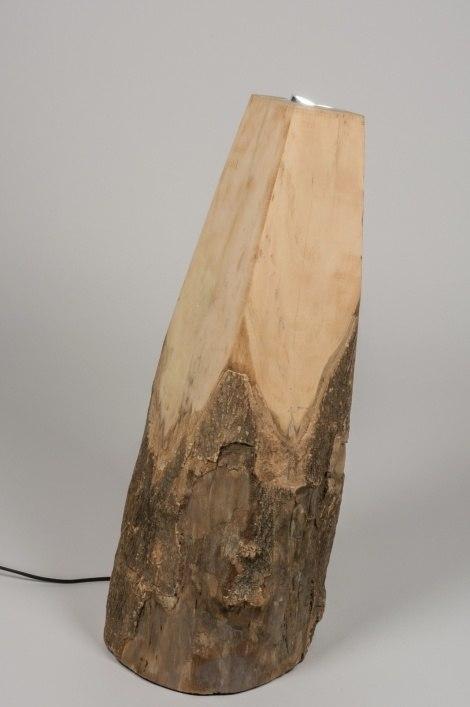 Staande lamp 72353 modern design hout licht hout for Design lamp hout