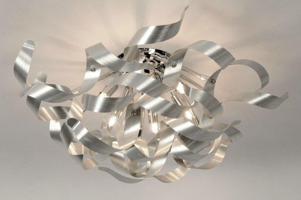 Plafondlamp 80775 Modern Design Aluminium Chroom