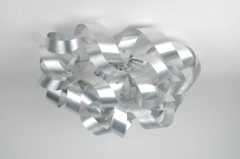 deckenleuchte 82981 aluminium gebuerstetes aluminium rund. Black Bedroom Furniture Sets. Home Design Ideas