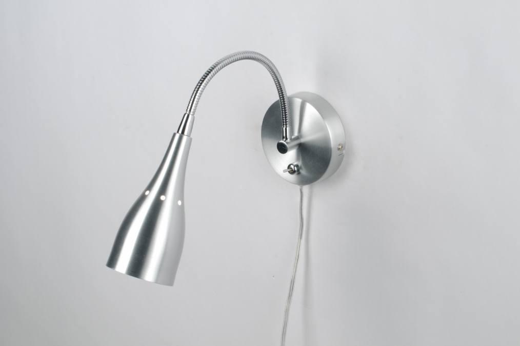 Wandlamp Slaapkamer Met Schakelaar : Spot 83914: Modern, Aluminium ...