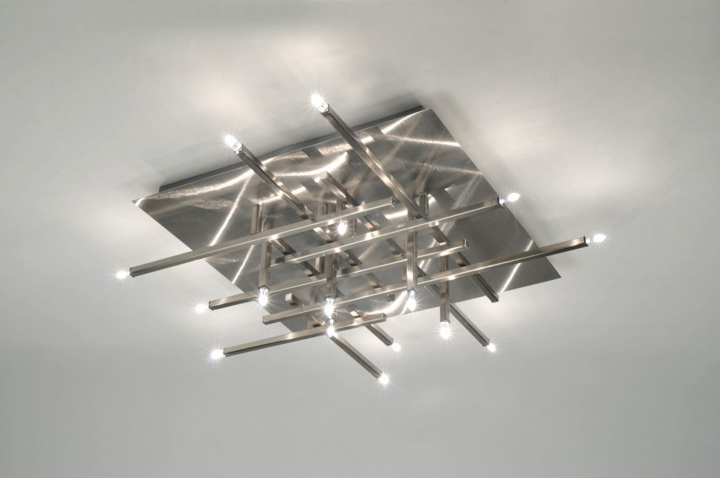 Plafondlampen Keuken : plafondlamp 85730: modern, design, staal , rvs